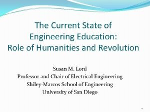 The Current State of Engineering Education Role of