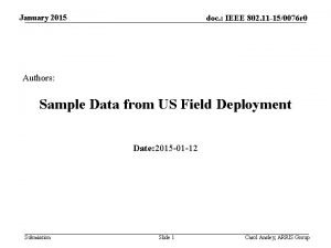 January 2015 doc IEEE 802 11 150076 r