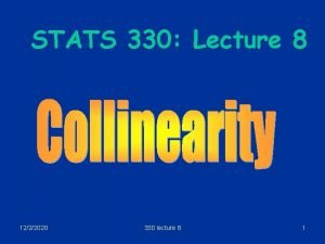 STATS 330 Lecture 8 1222020 330 lecture 8