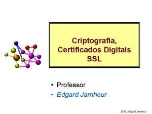 Criptografia Certificados Digitais SSL Professor Edgard Jamhour 2001