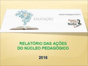 RELATRIO DAS AES DO NCLEO PEDAGGICO 2016 NCLEO