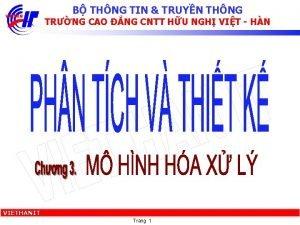 B THNG TIN TRUYN THNG TRNG CAO NG
