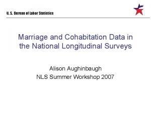 U S Bureau of Labor Statistics Marriage and