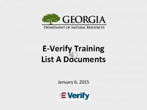 EVerify Training List A Documents January 6 2015