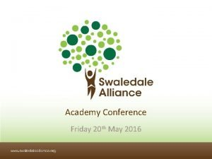 Academy Conference Friday 20 th May 2016 Welcome