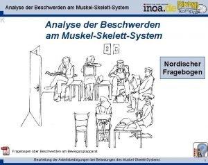 Analyse der Beschwerden am MuskelSkelettSystem K Analyse der