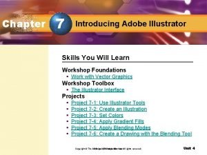 Chapter 7 Introducing Adobe Illustrator Skills You Will