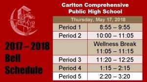 Carlton Comprehensive Public High School Thursday May 17