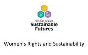 Womens Rights and Sustainability What does sustainability mean