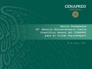Sesin Permanente 62 Reunin Extraordinaria Comit Cientfico Asesor