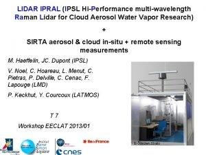 LIDAR IPRAL IPSL HiPerformance multiwavelength Raman Lidar for