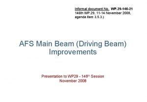 Informal document No WP 29 146 21 146