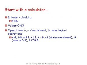 Start with a calculator z Integer calculator y
