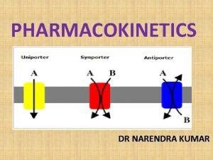 PHARMACOKINETICS DR NARENDRA KUMAR Pharmacokinetics of drugs ADME