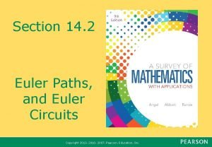 Section 14 2 Euler Paths and Euler Circuits