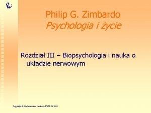 Philip G Zimbardo Psychologia i ycie Rozdzia III