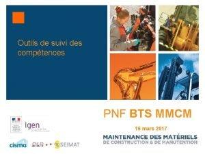 Outils de suivi des comptences PNF BTS MMCM