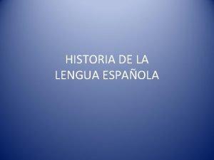 HISTORIA DE LA LENGUA ESPAOLA LENGUAS PRERROMANAS Excepto