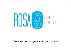 Op weg naar lagere energiekosten Inhoudsopgave 1 2