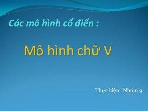Cc m hnh c in M hnh ch