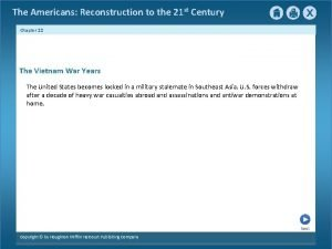 The Americans Reconstruction to the 21 st Century