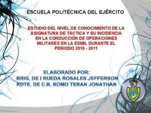 ESCUELA POLITCNICA DEL EJRCITO ESTUDIO DEL NIVEL DE