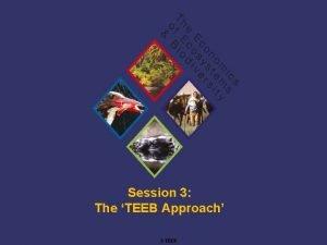 Session 3 The TEEB Approach TEEB Training Using
