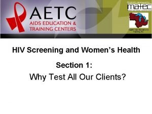 Originally developed by Health Care Education Training Inc