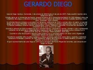 GERARDO DIEGO Gerardo Diego Cendoya Santander 3 de