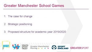 Greater Manchester School Games 1 The case for