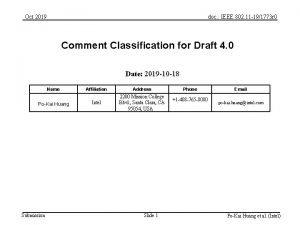 Oct 2019 doc IEEE 802 11 191773 r