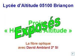 Lyce dAltitude 05100 Brianon Projet Horloges dAltitude La