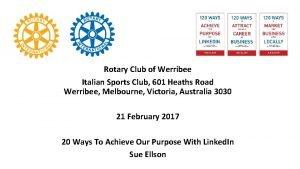 Rotary Club of Werribee Italian Sports Club 601