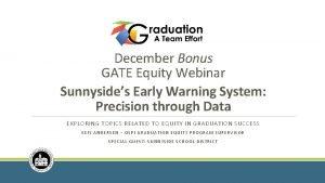 December Bonus GATE Equity Webinar Sunnysides Early Warning