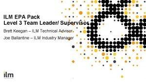 ILM EPA Pack Level 3 Team Leader Supervisor