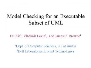 Model Checking for an Executable Subset of UML