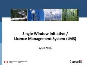 Single Window Initiative Licence Management System LMS April