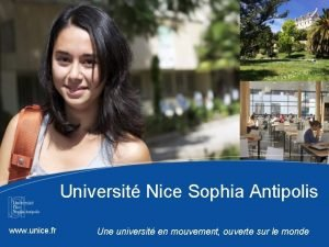 Universit Nice Sophia Antipolis www unice fr Une