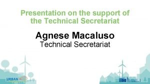Presentation on the support of the Technical Secretariat