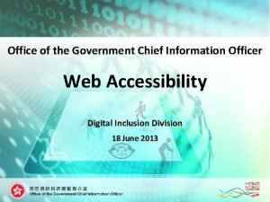 Office of the Government Chief Information Officer Web