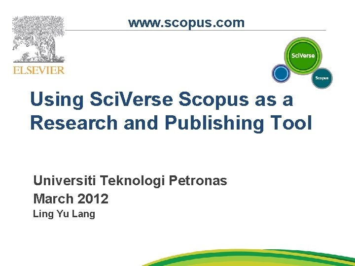 www scopus com Using Sci Verse Scopus as