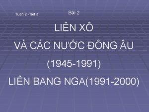 Tuan 2 Tiet 3 Bi 2 LIN X