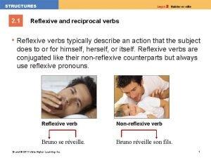 2 1 Reflexive and reciprocal verbs Reflexive verbs