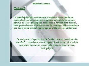 Rendimiento Acadmico Qu es La complejidad del rendimiento