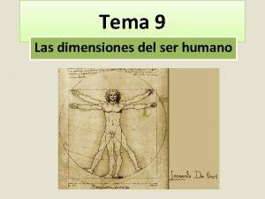 Tema 9 Las dimensiones del ser humano Captulo