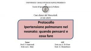 UNIVERSITA DEGLI STUDI DI NAPOLI FEDERICO II Scuola