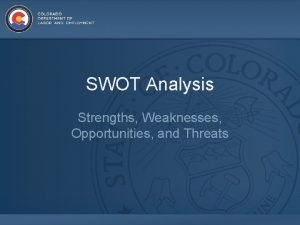 SWOT Analysis Strengths Weaknesses Opportunities and Threats Overview