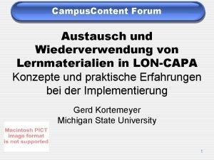 Campus Content Forum Austausch und Wiederverwendung von Lernmaterialien
