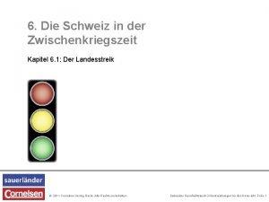 6 Die Schweiz in der Zwischenkriegszeit Kapitel 6