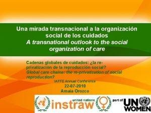 Una mirada transnacional a la organizacin social de